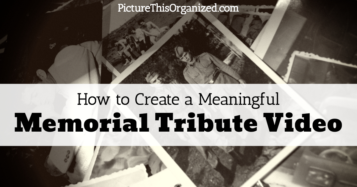 How to Create a Meaningful Memorial Tribute Video