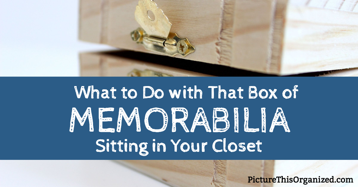 What to Do with That Box of Memorabilia Sitting in Your Closet